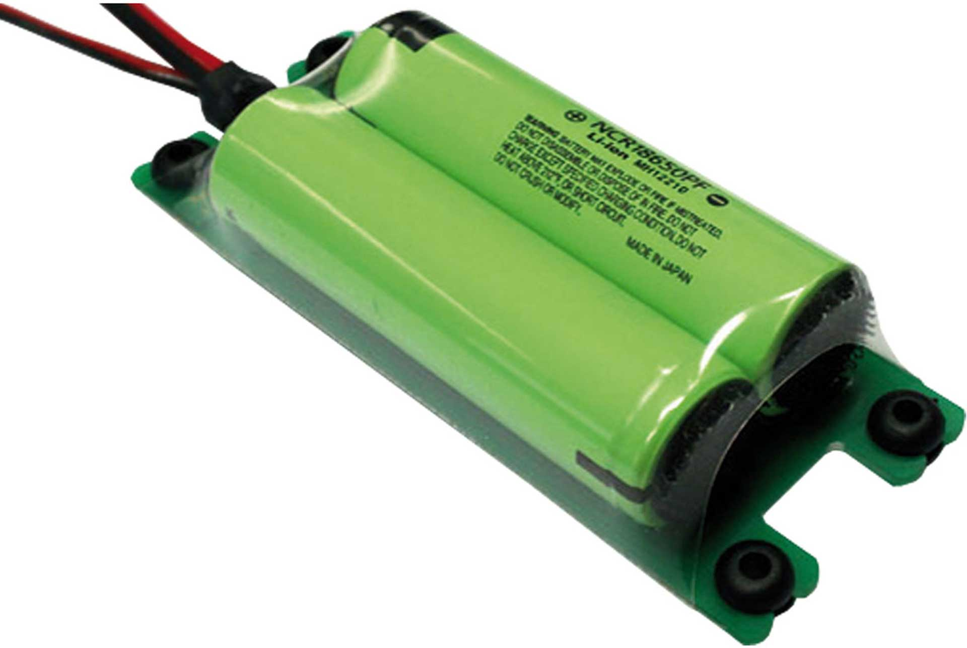 EMCOTEC LION BATTERY PACK 2900 MAH 2S 7,2V COMP ACT WITH MPX PLUG/JR CHARGING JACK NCR18650PF