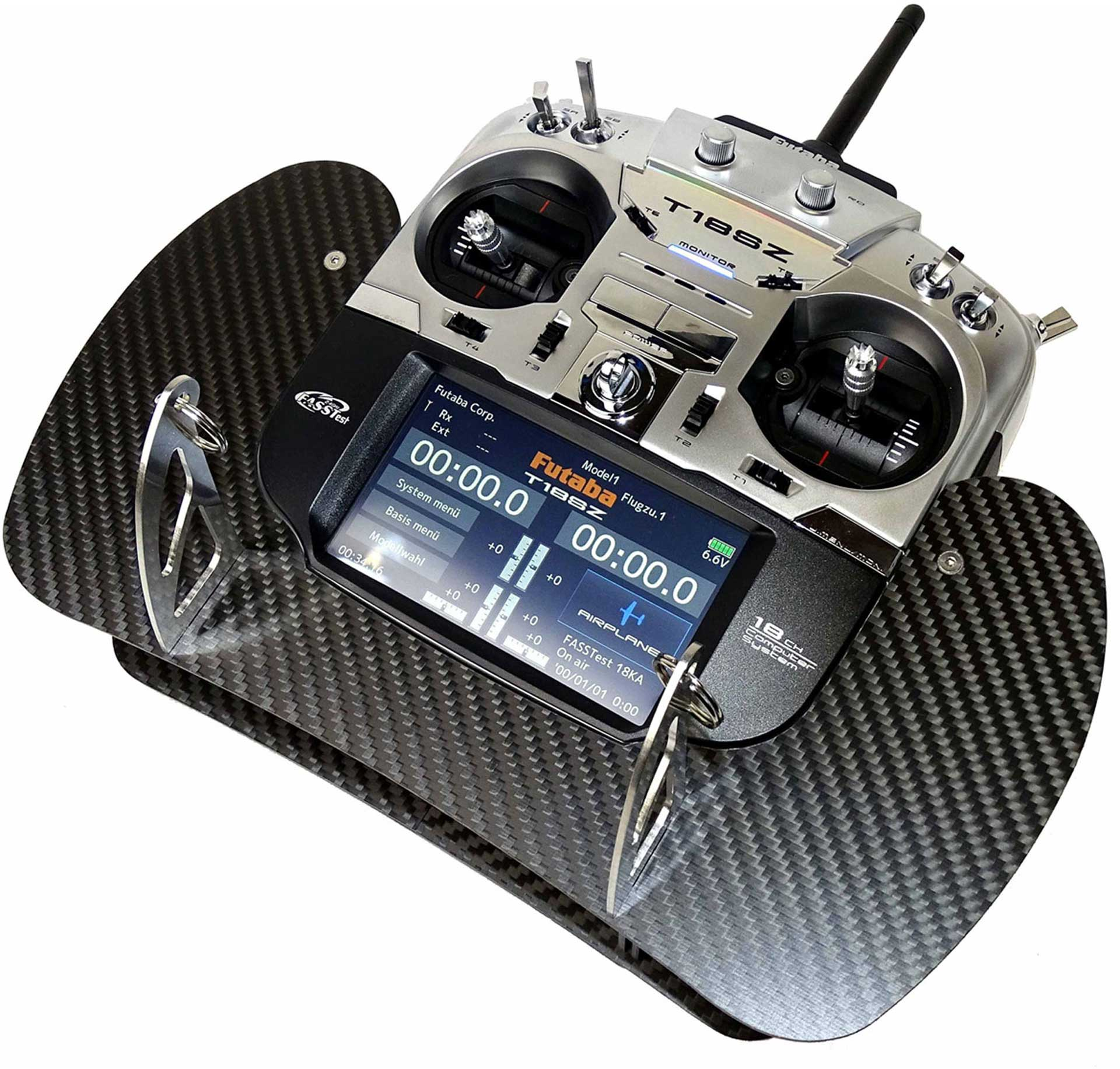 AHLTEC TRANSMITTER CONSOLE FUTABA T18SZ IN CARBON (ALSO SUITABLE FOR T16SZ)
