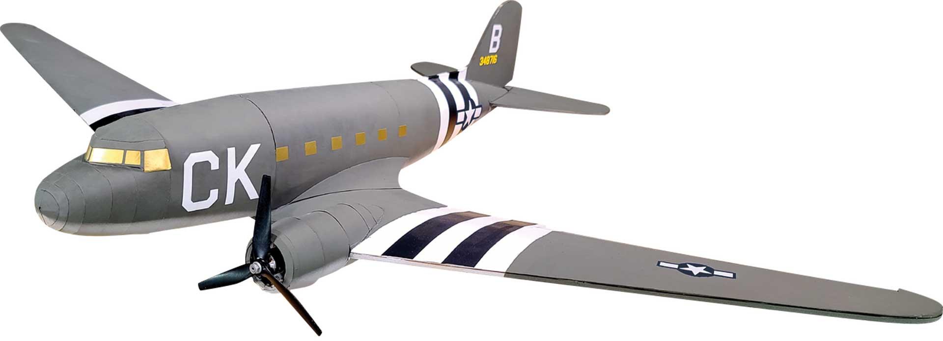 """FLITE TEST Master Series C-47 50"""" Bausatz"""