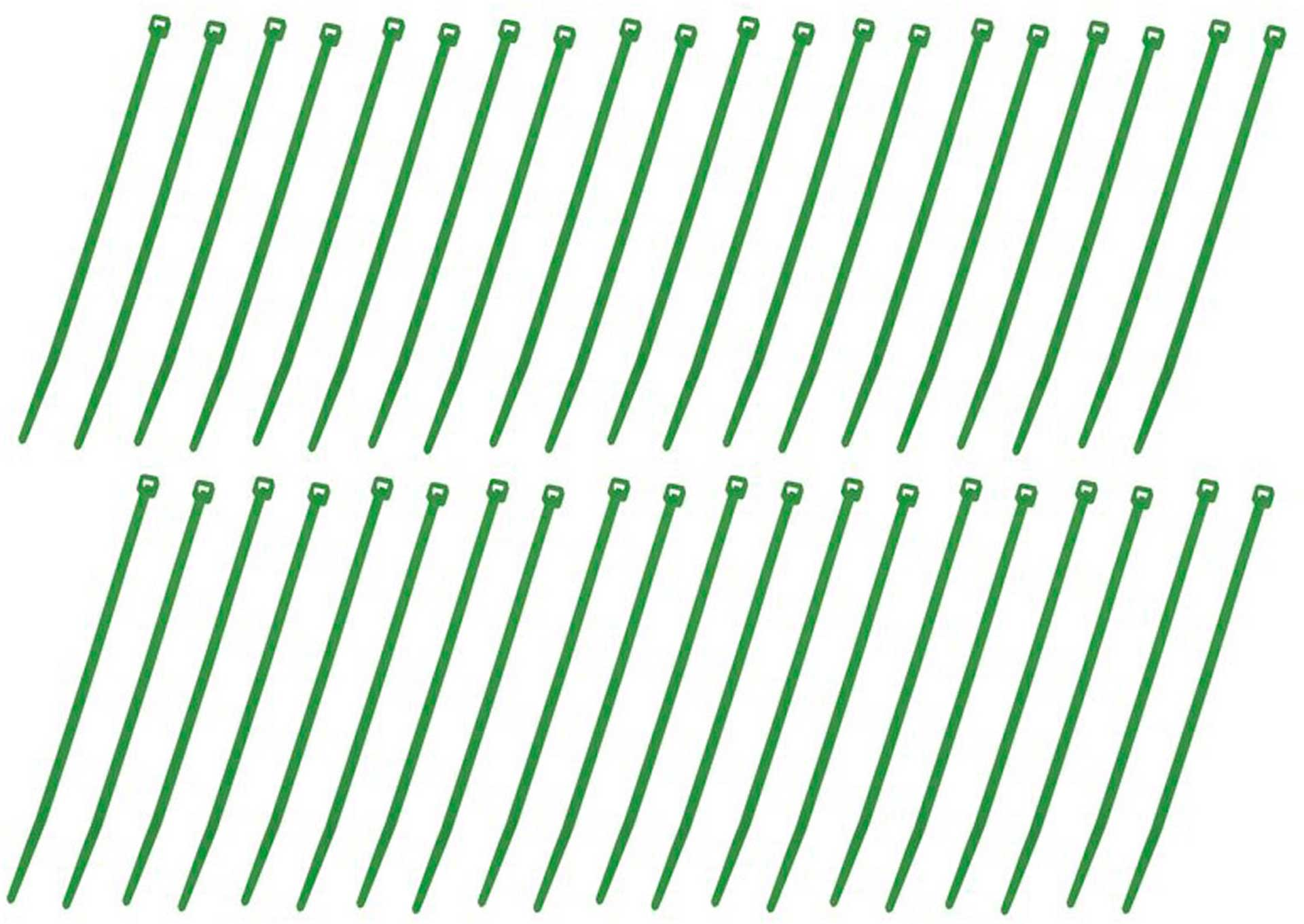 GRAUPNER CABLE TIE 40PCS. GREEN - GREEN