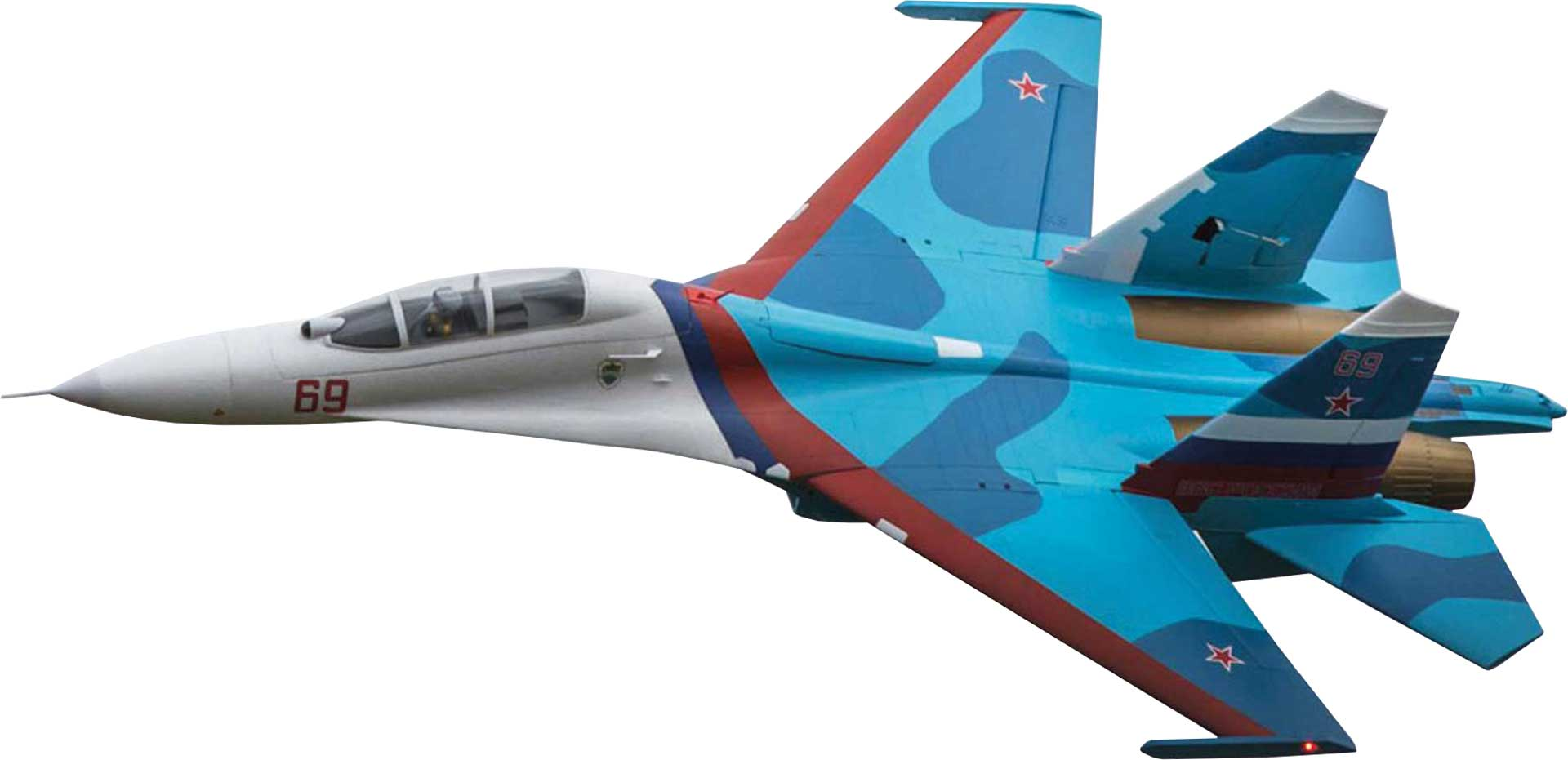 E-Flite Su-30 Twin 70mm EDF BNF Basic w/AS3X & SAFE Select