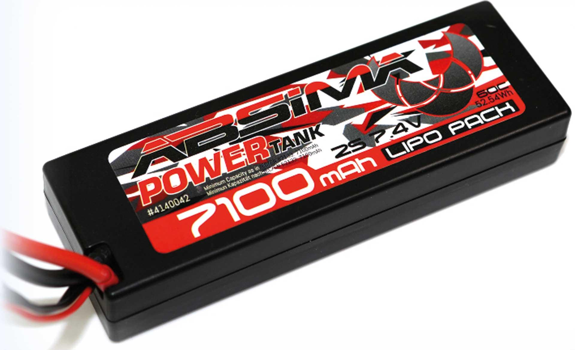 Absima Power Tank LiPo Stick Pack 7,4V 60C7100mah Hardcase (T Plug)