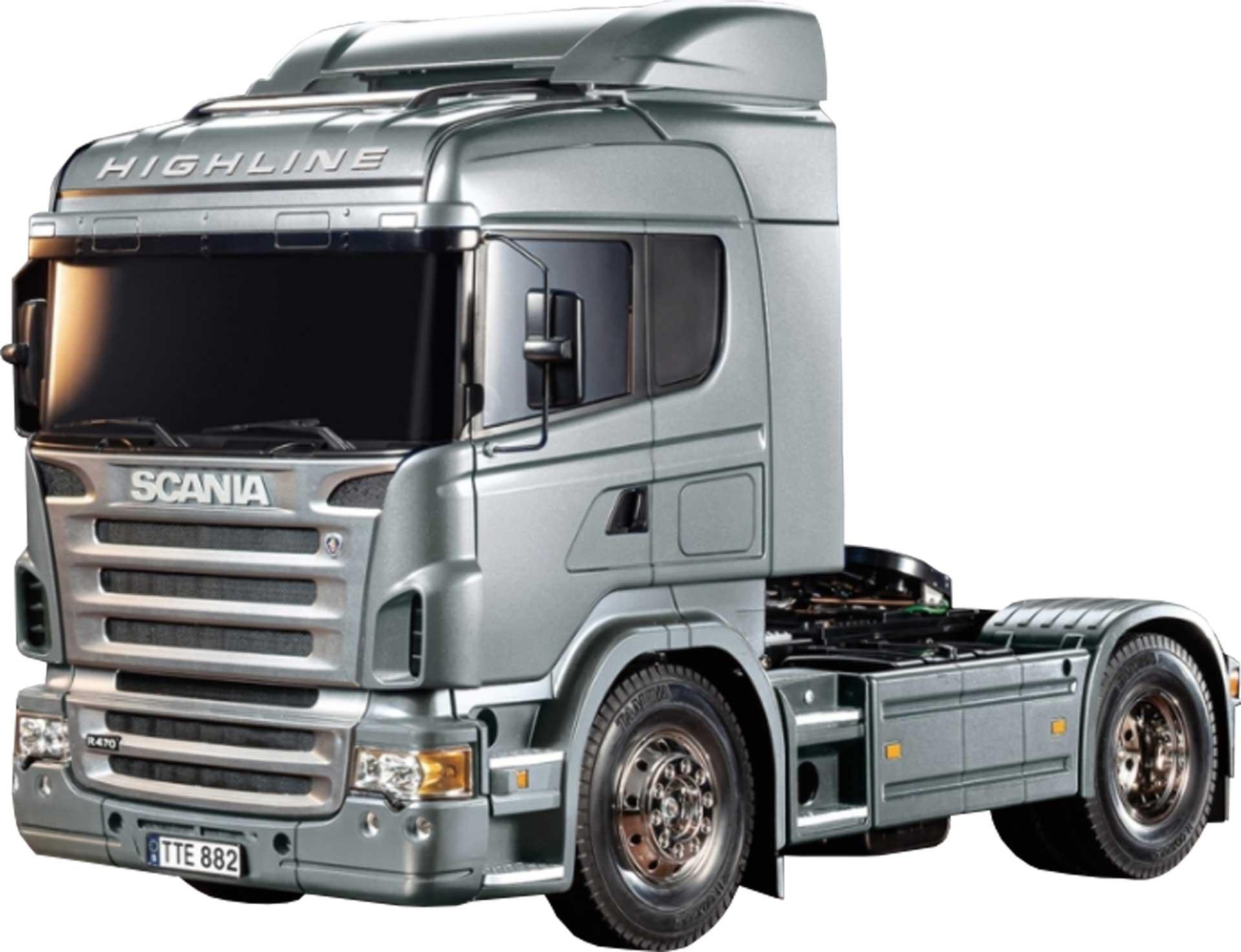 TAMIYA Scania R470 Silber Edition 1/14 EP Kit (Silber vorlackiert)