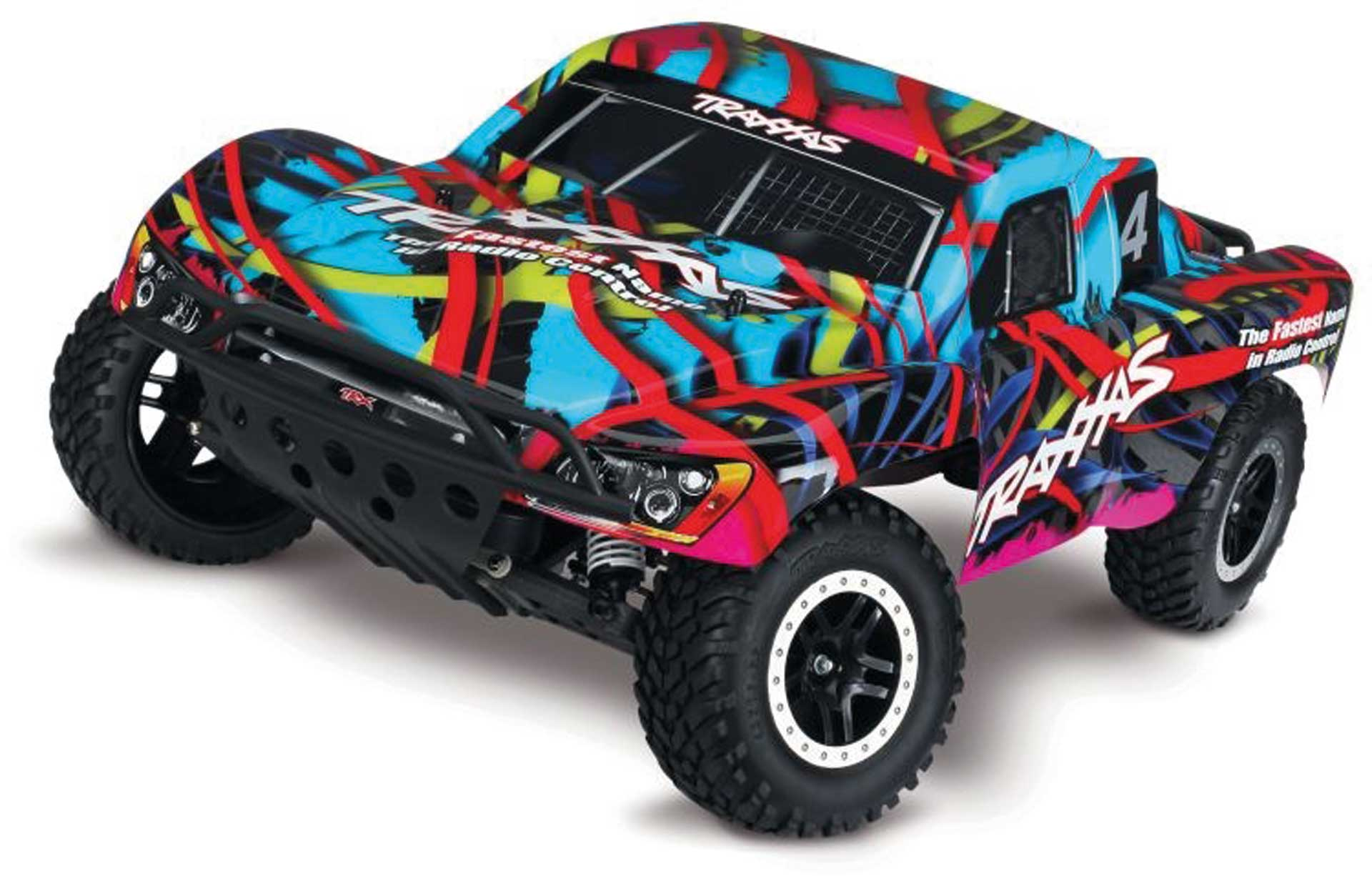 Traxxas SLASH HAWAIIAN RTR +12V-LADER+AKKU 1/10 2WD SHORT COURSE RACING TRUCK BRUSHED