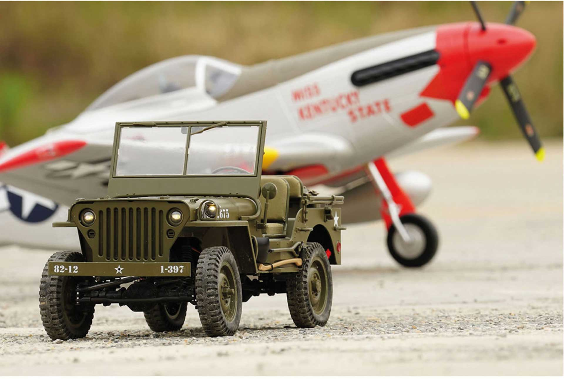 ROC HOBBY 1941 MB Scaler 1:6 4WD Crawler RTR 2,4GHz, mit Beleuchtung