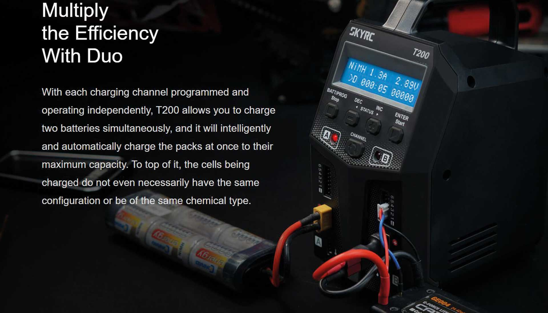 SKYRC T200 AC/DC CHARGER LIPO 1-6S 12A 100W