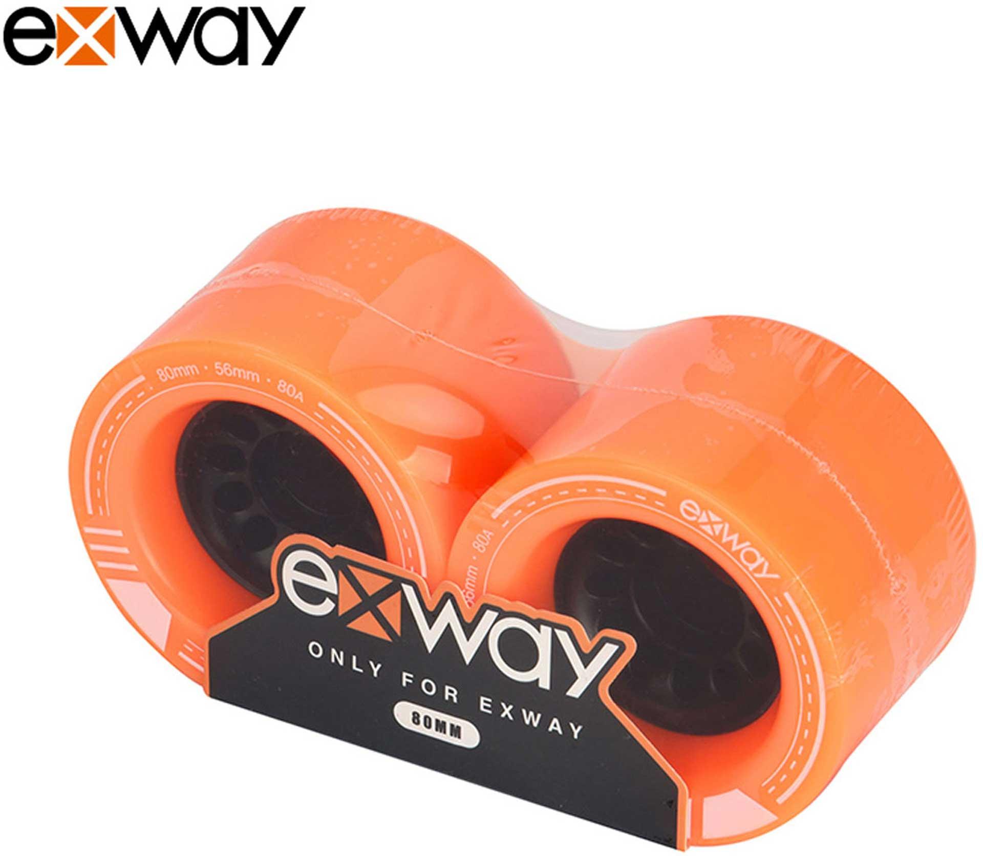 EXWAY X1 SKATEBOARD ROLLEN VORNE 80 X 56MM 80A