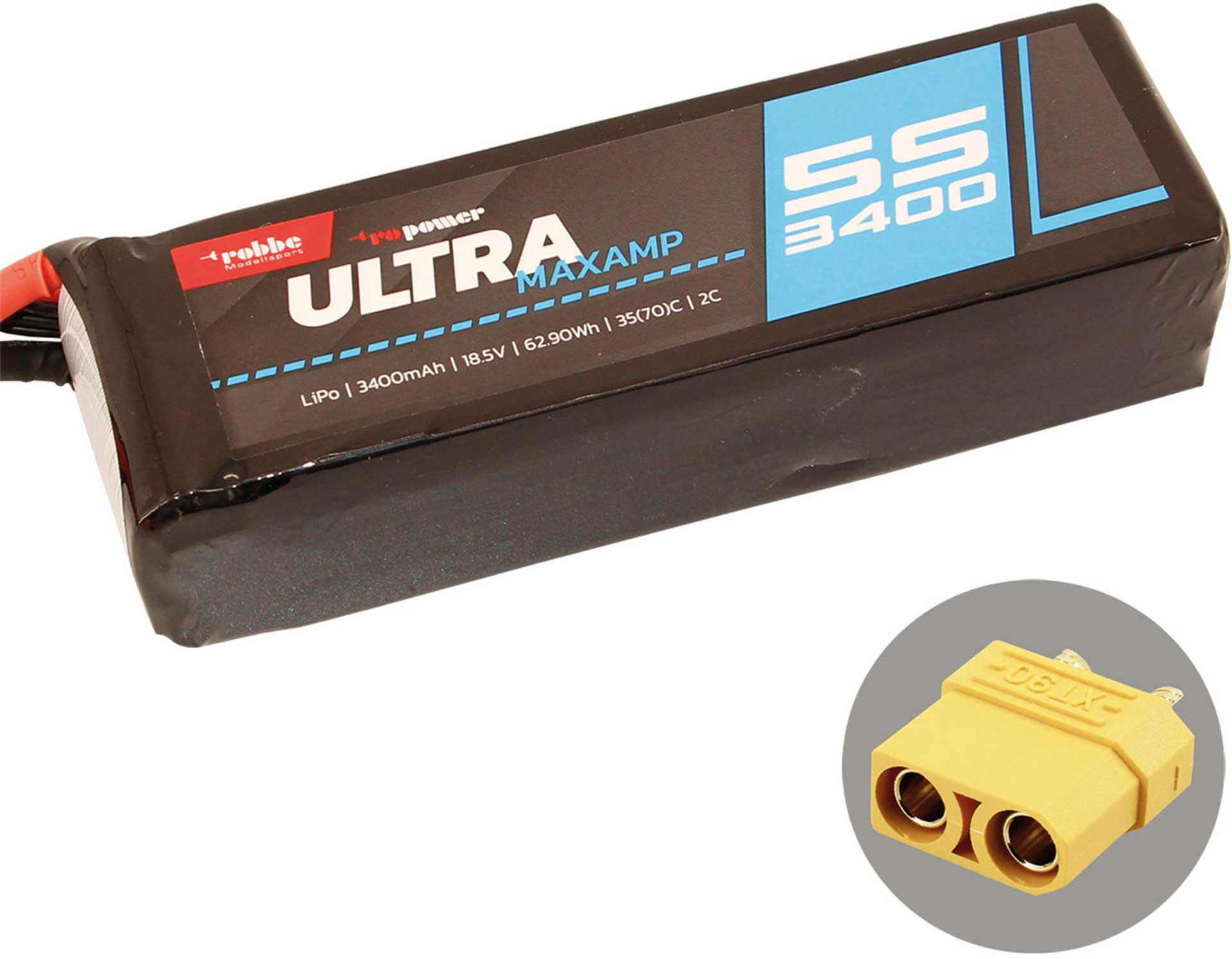 ROBBE RO-POWER ULTRA MAXAMP 3400MAH 18,5 VOLT