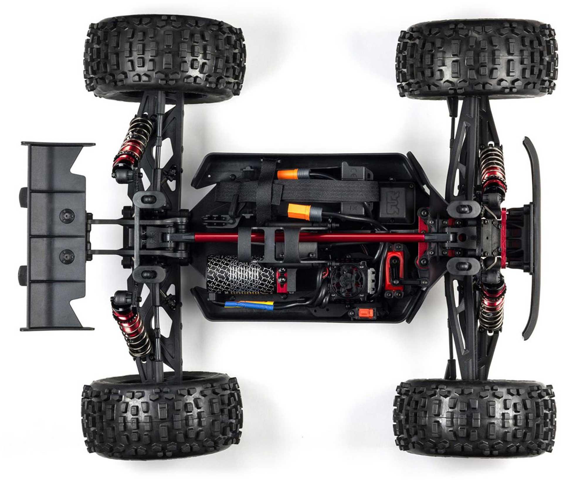 Arrma OUTCAST 6S 4WD BLX 1/8 STUNT TRUCK SILVER