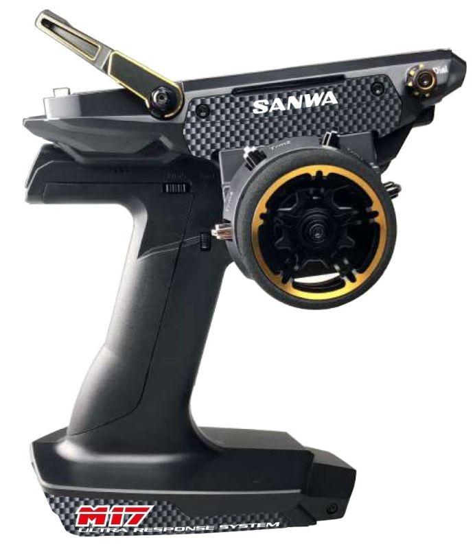 SANWA M17 LIavec ED GOLD - RX-493 TX/RX FARB-TOUCH-DISPLAY SURFACE CH4 2.4GHZ FH5 ULTRA RESPONSE MODE