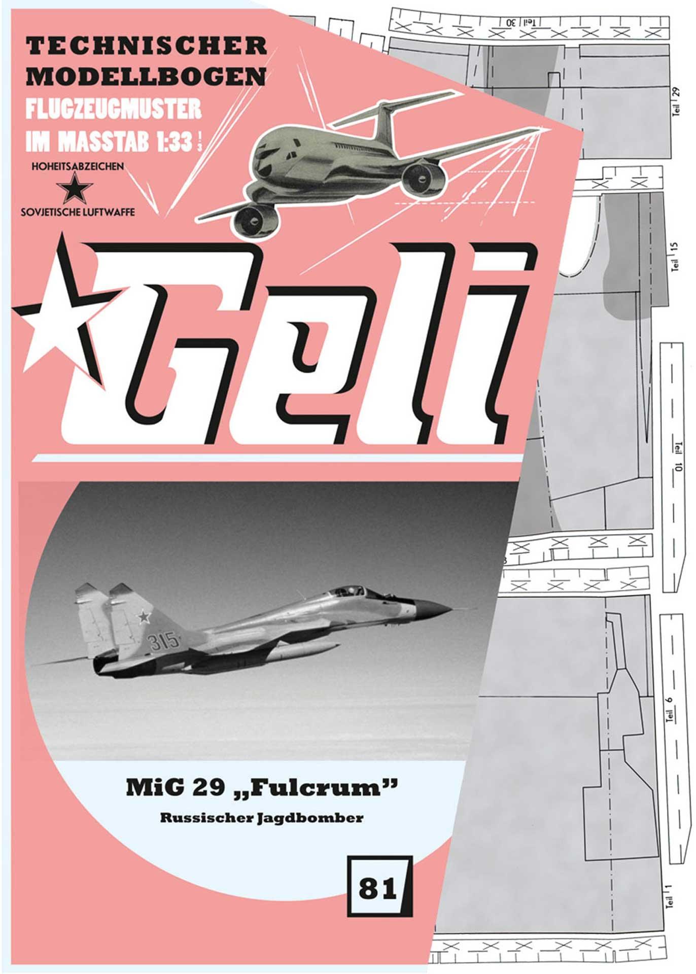 GELI MIG-29 # 81 KARTONMODELL