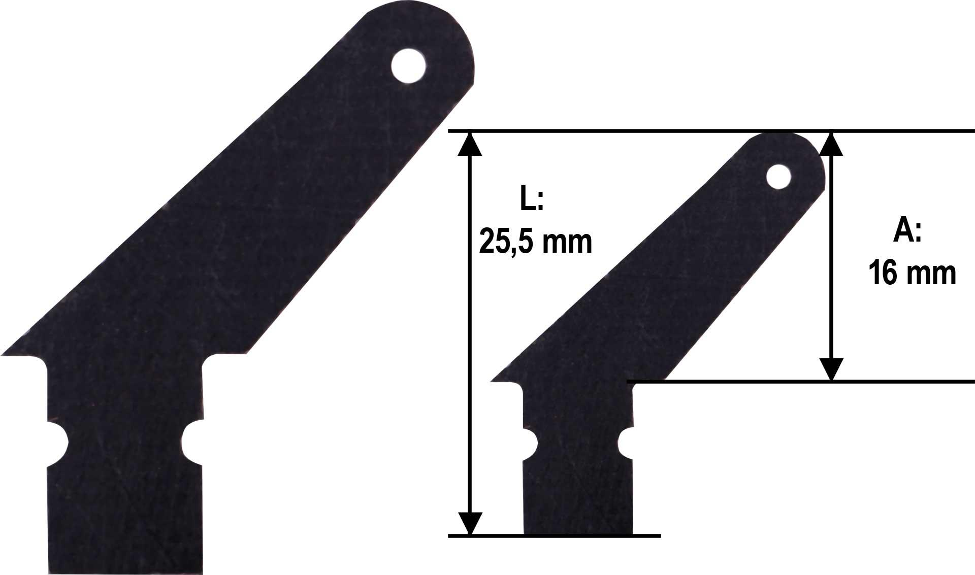 MODELLBAU LINDINGER GFK Ruderhorn 13mm Set 10Stk. 1,5mm GFK schwarz