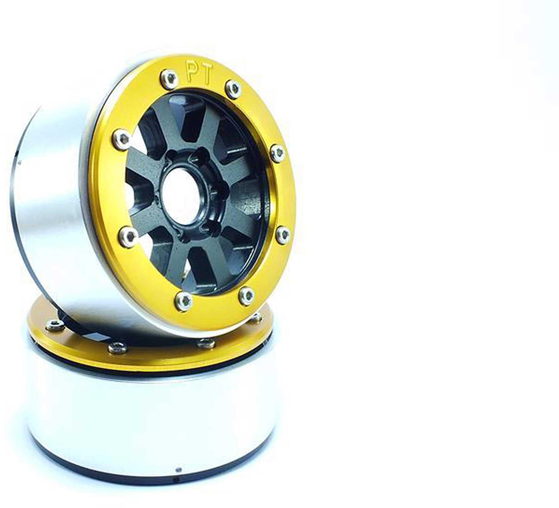 Metsafil Beadlock Wheels HAMMER schwarz/gold 1.9 (2 St.) ohne Radnabe