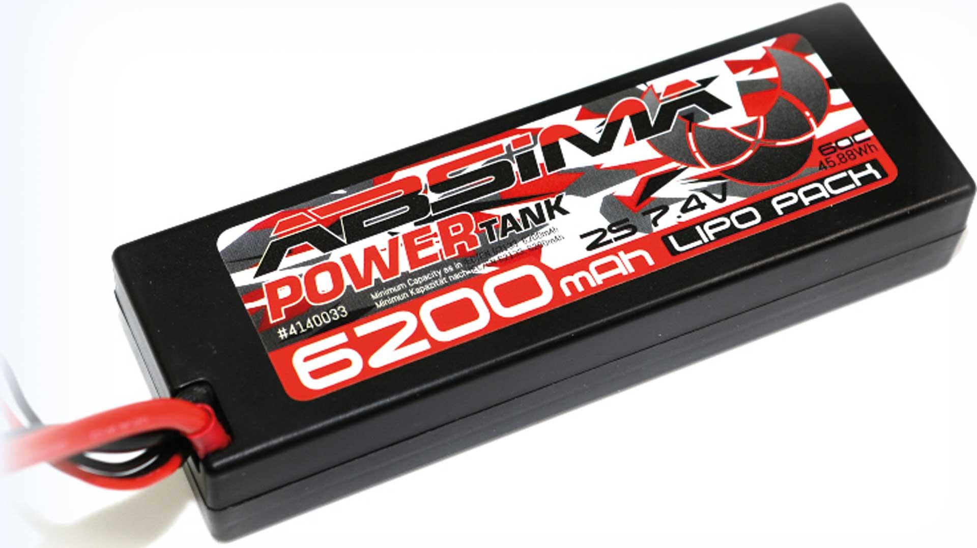 Absima Power Tank LiPo Stick Pack 7,4V 60C6200mah Hardcase (XT90-Plug)