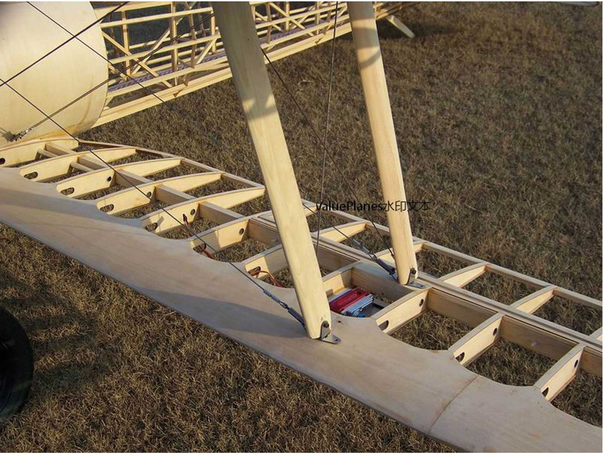 VALUEPLANES NIEUPORT 28 WOODEN KIT 1:3 2,8M WITH METAL FITTINGS AND GFK HOOD