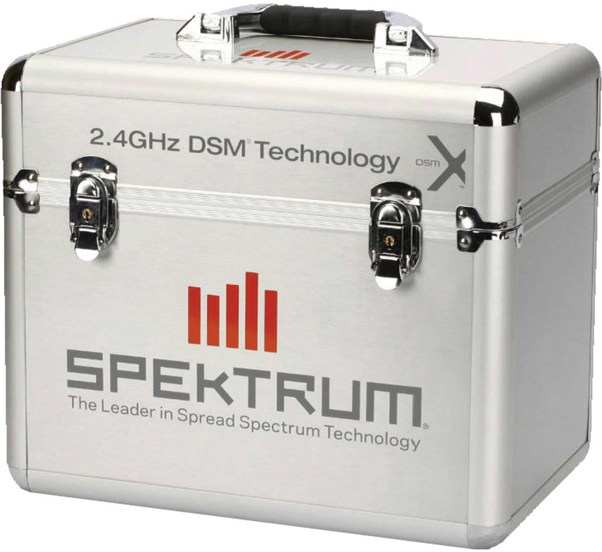 SPEKTRUM ALUMINIUM STANDING TRANSMITTER CASE WITH SPECTRUM DECAL