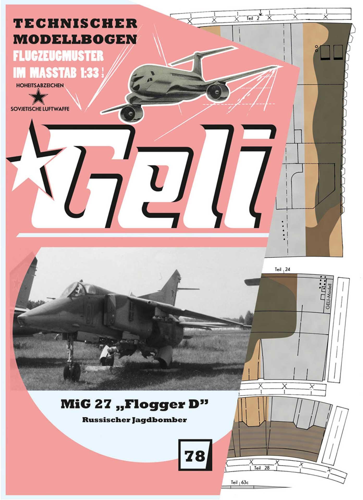 GELI MIG-27 # 78 KARTONMODELL