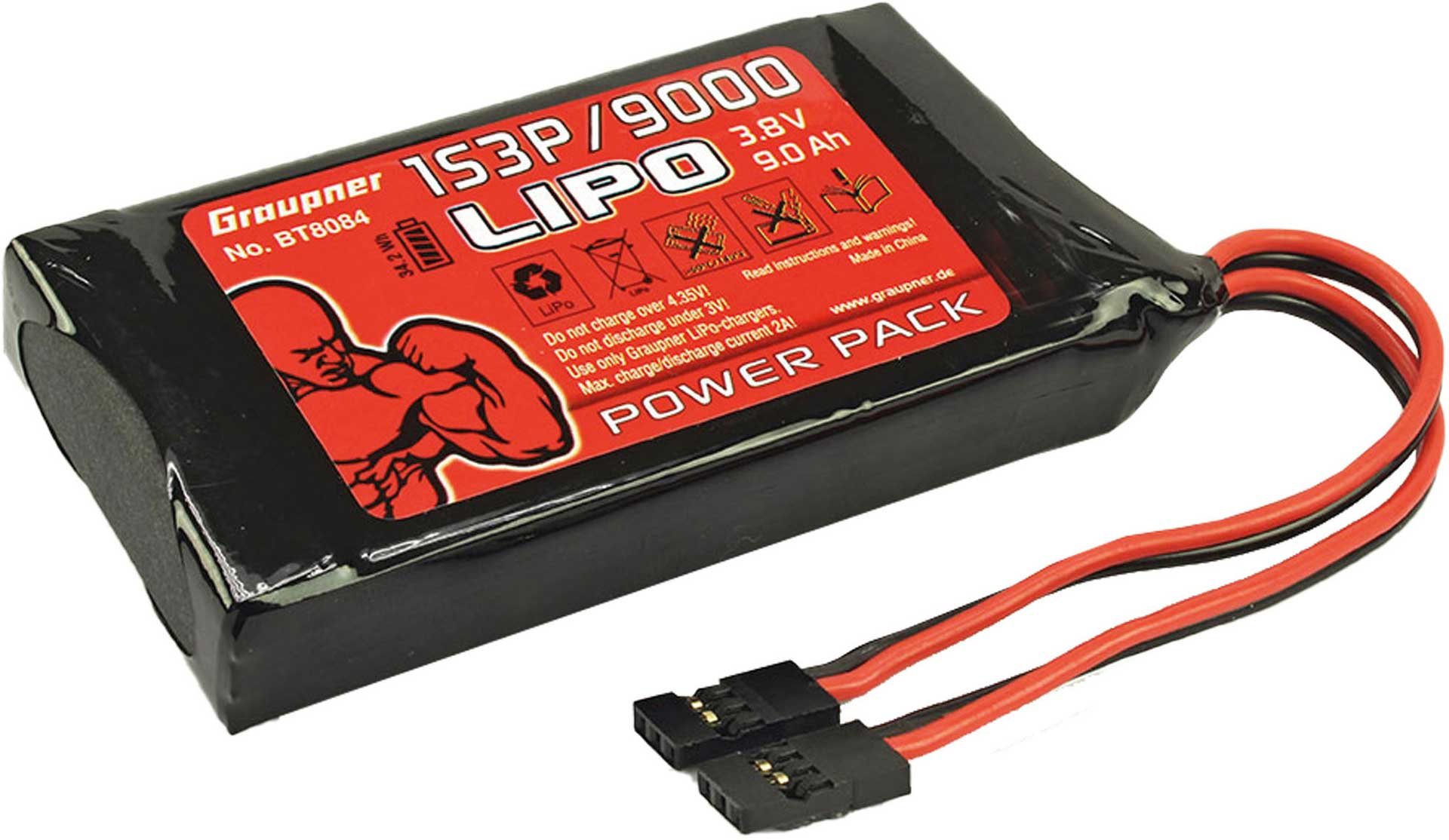 GRAUPNER LIPO Battery for MZ-32 9000mah