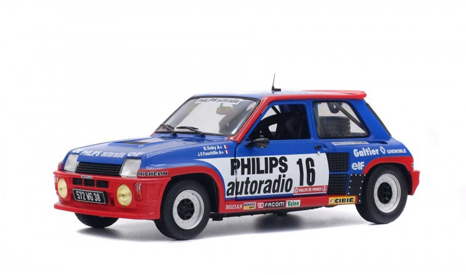 SOLIDO RENAULT R5 TURBO GROUPE B 1/18 STANDING MODEL
