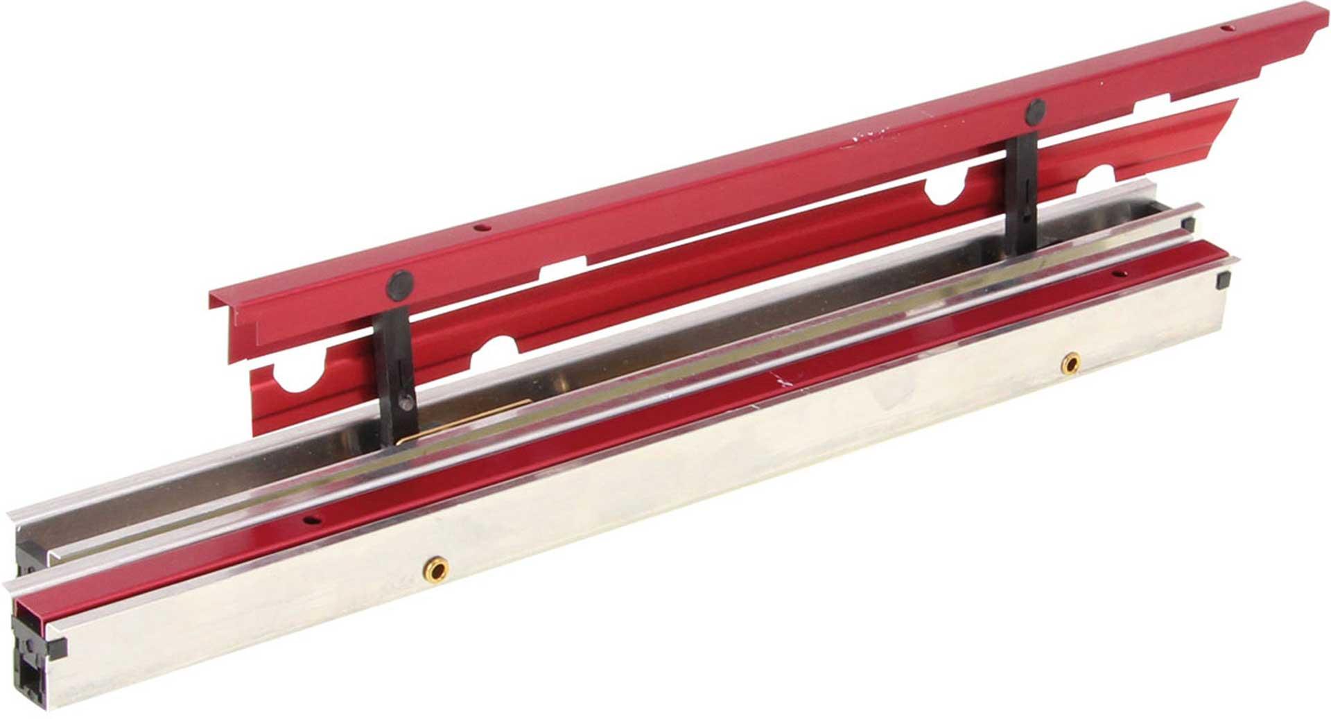 MODELLBAU LINDINGER FLAPS 25CM/16MM RED ANODIZED ALUMINIUM SINGLE CENTER-LOCKING, INTERNALLY HINGED