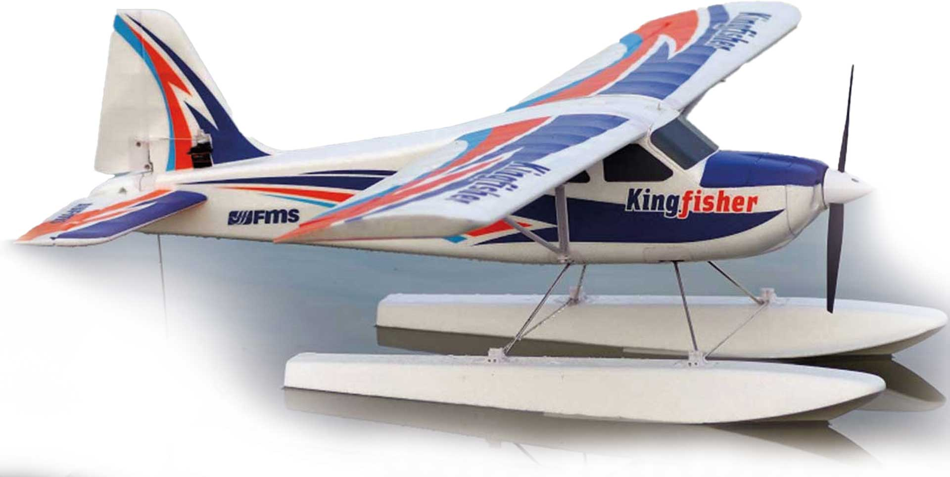 FMS Kingfisher Trainer PNP incl. Schwimmer & Ski s - 140 cm Combo incl. Reflex Gyro Syst