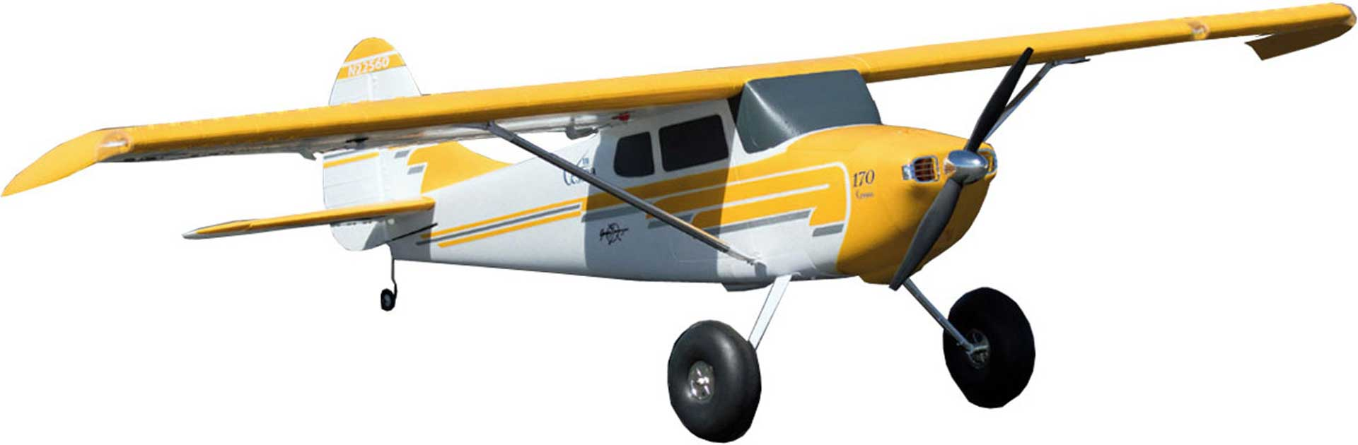 PREMIER AIRCRAFT Cessna 170 SUper Pnp with aura 8 and position lighting