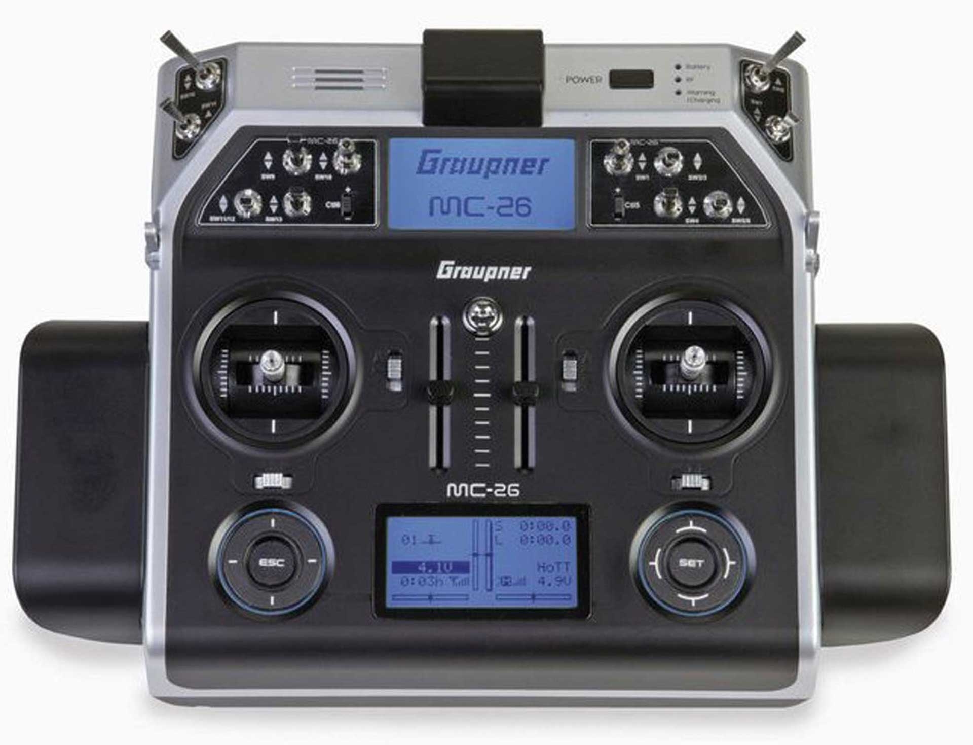 GRAUPNER MC-26 HOTT TRANSMITTER ONLY