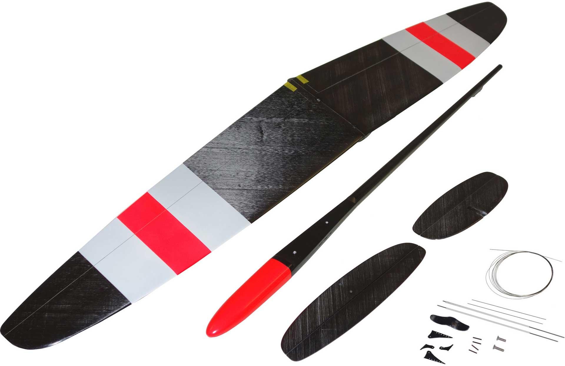 "OA-Composites Strike 3 Mini DLG Ejection Glider Colour # B (""Plus"" Red)"