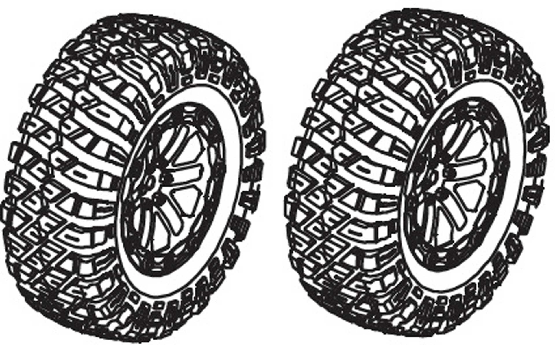 Absima Kompletträder - Khamba (2 St.)