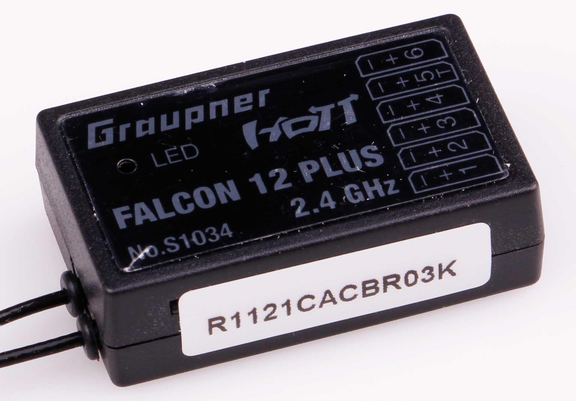 GRAUPNER FALCON 12 PLUS HOTT 3-Achs-Gyro + Vario + Antennendiversity