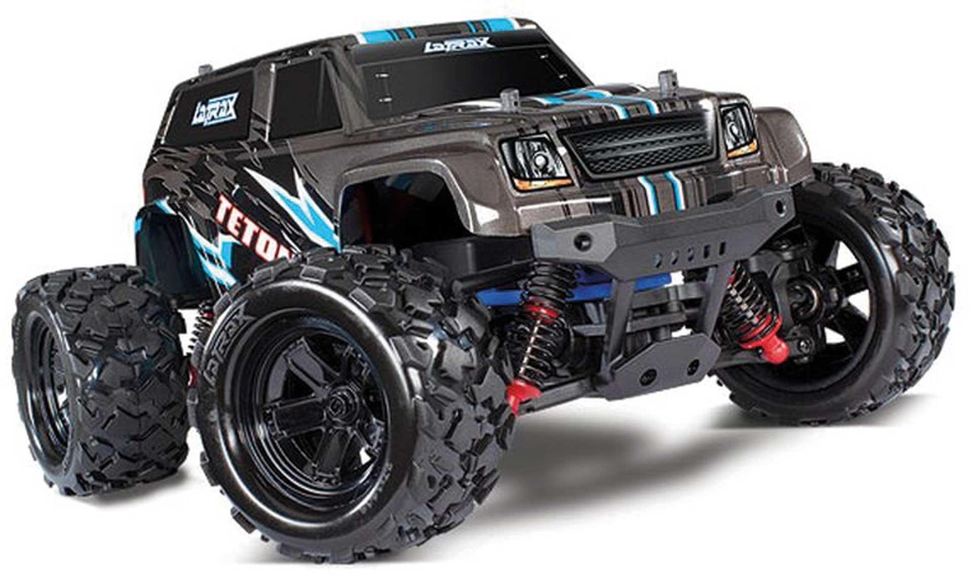 Traxxas TETON 4X4 SCHWARZ RTR +12V-LADER+AKKU 1/18 4WD MONSTER TRUCK BRUSHED