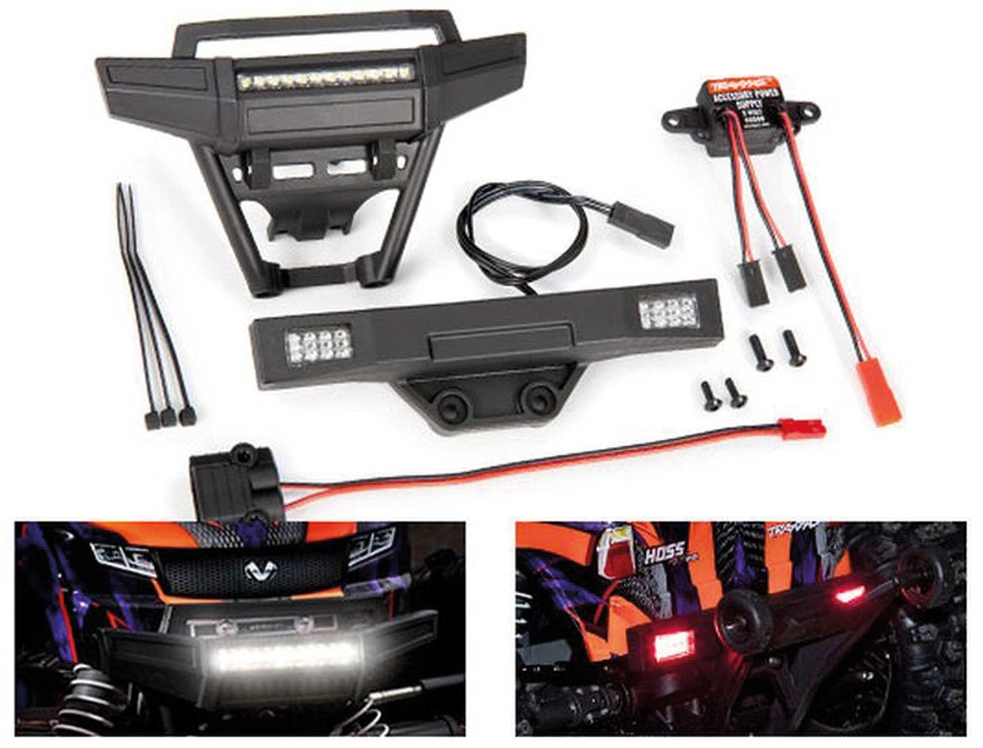 TRAXXAS HOSS Lights-Set complete with Power supply for 9011 Chassis