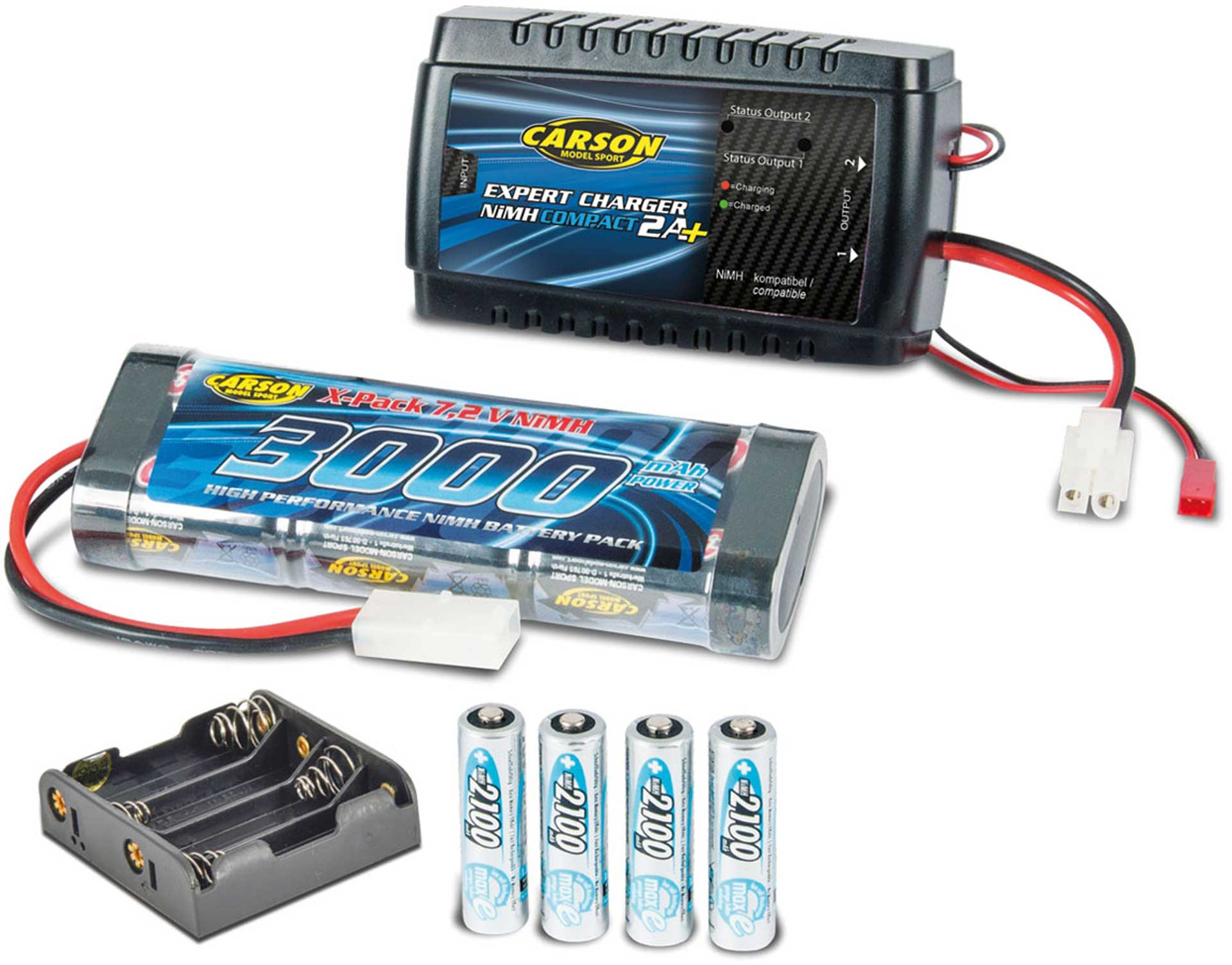 CARSON EXPERT CHARGER CAR & RADIO LADE SET