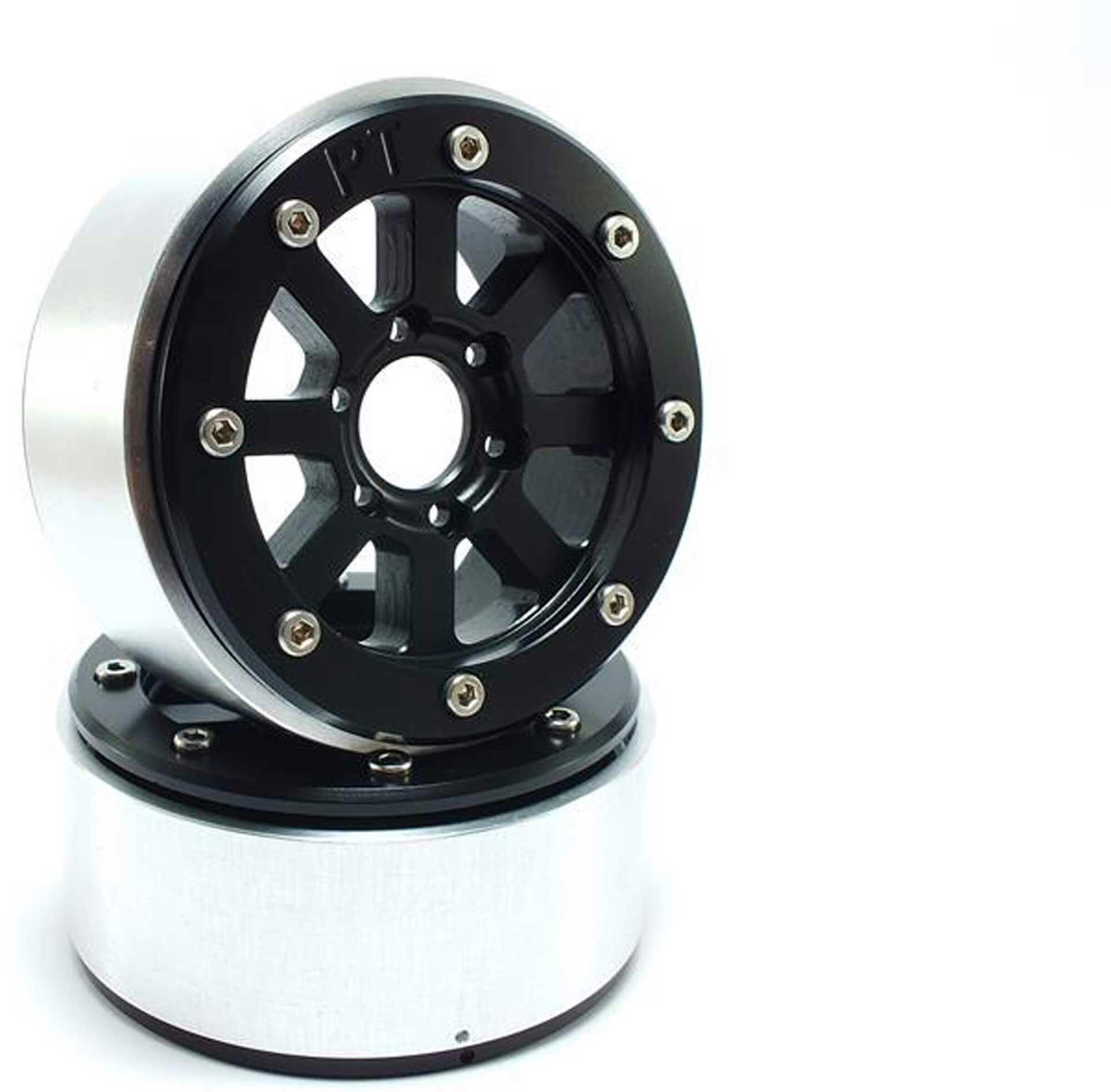 Metsafil Beadlock Wheels HAMMER schwarz/schwarz 1.9 (2 St.) ohne Radnabe