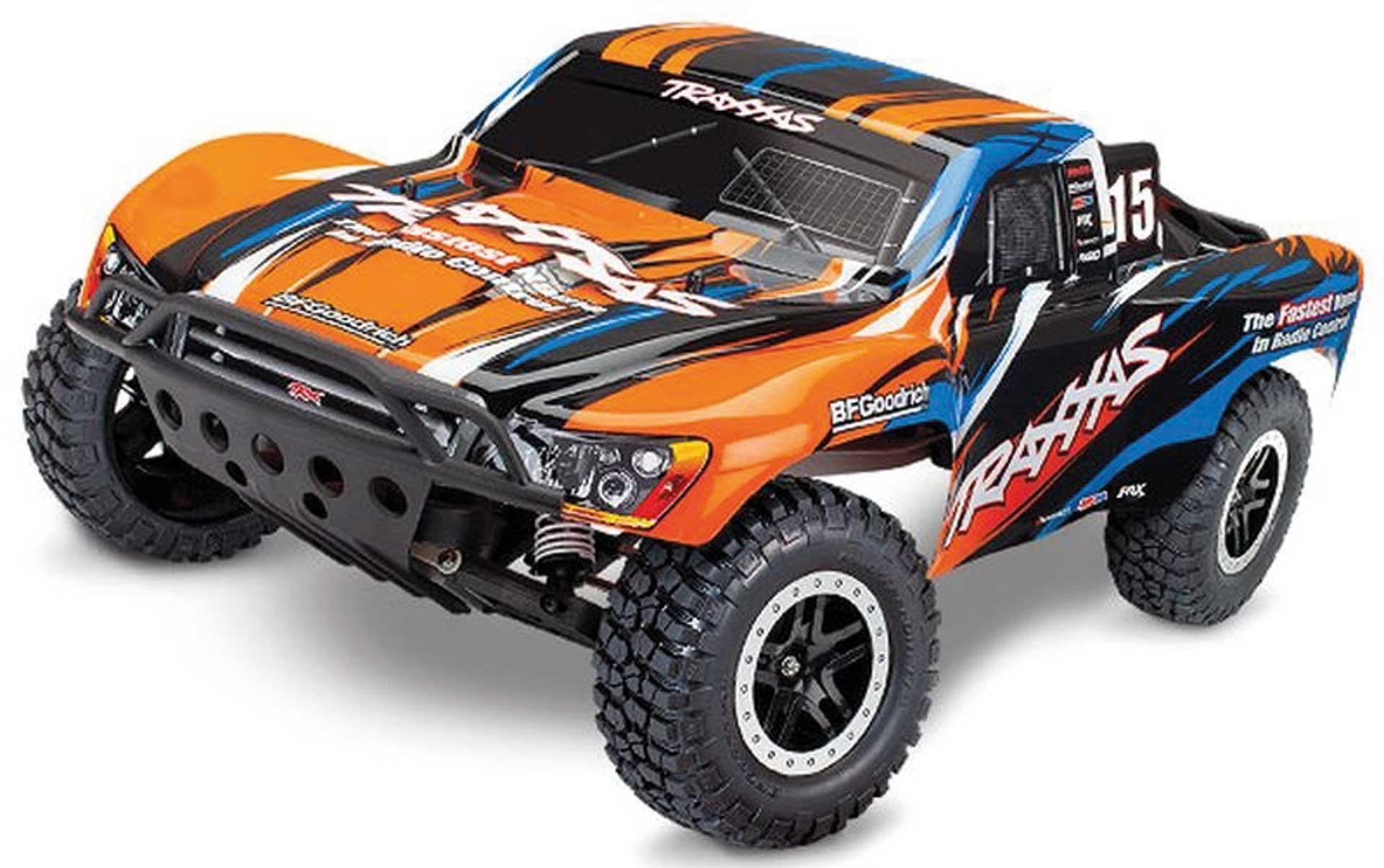 Traxxas SLASH ORANGEX RTR +12V-LADER+AKKU 1/10 2WD SHORT COURSE RACING TRUCK BRUSHED