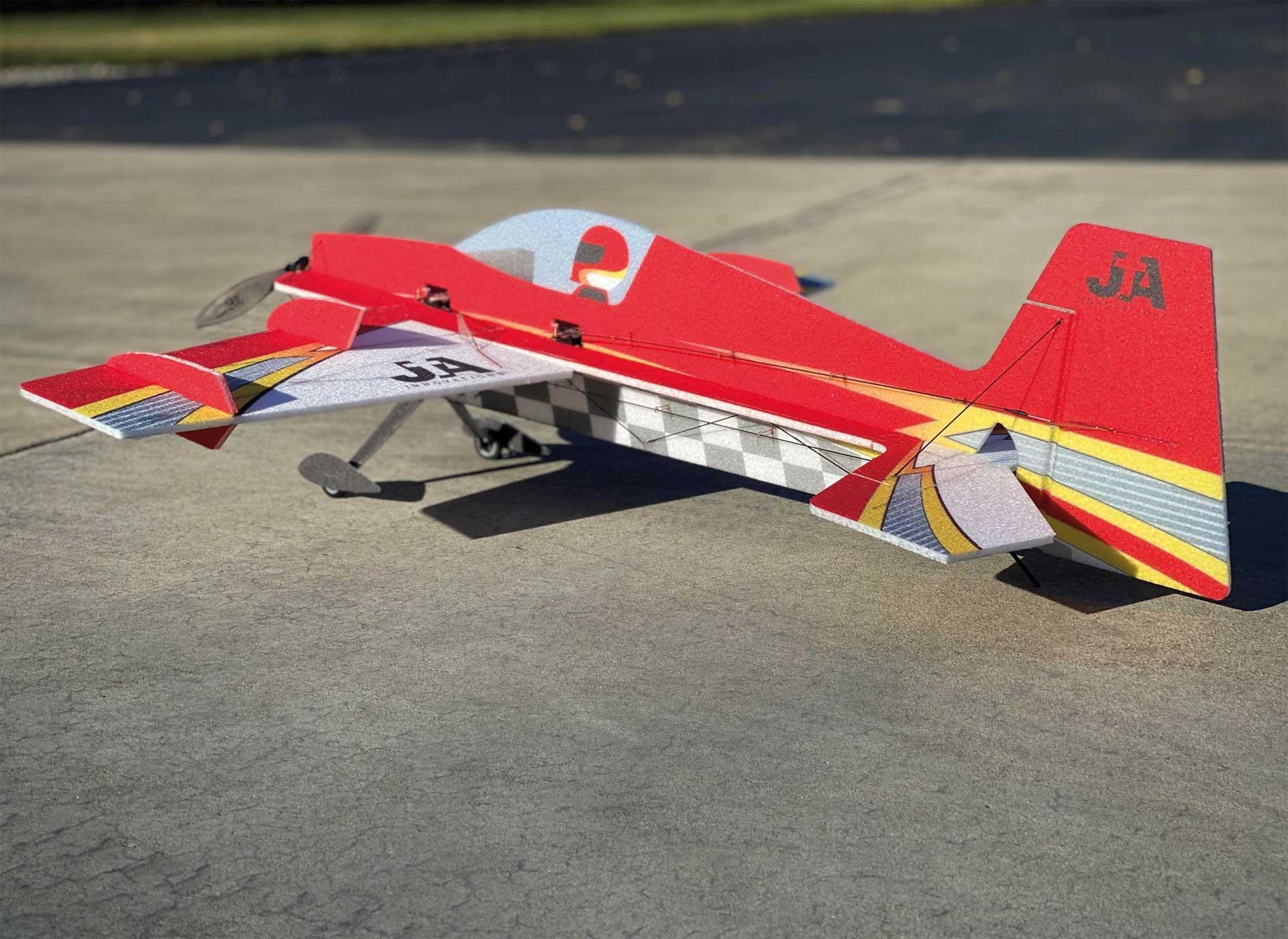 "JTA Innovations SLICK (RED /white) 33"" EPP 3D Aerobatics Model"
