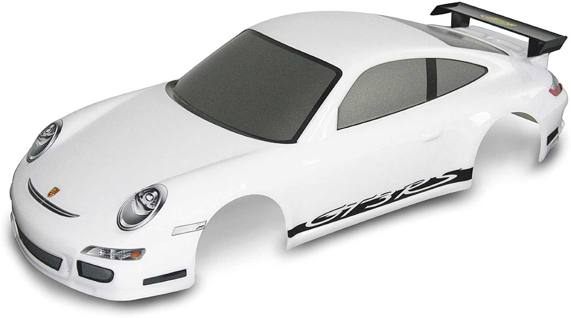 CARSON Body Porsche 911 GT3 1/10 white painted + decor