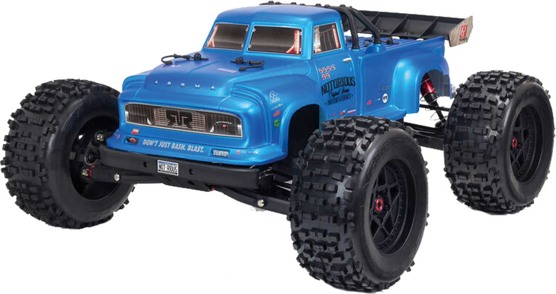 ARRMA Notorious 6S V5 4WD BLX 1/8 RTR Blue Stunt Truck