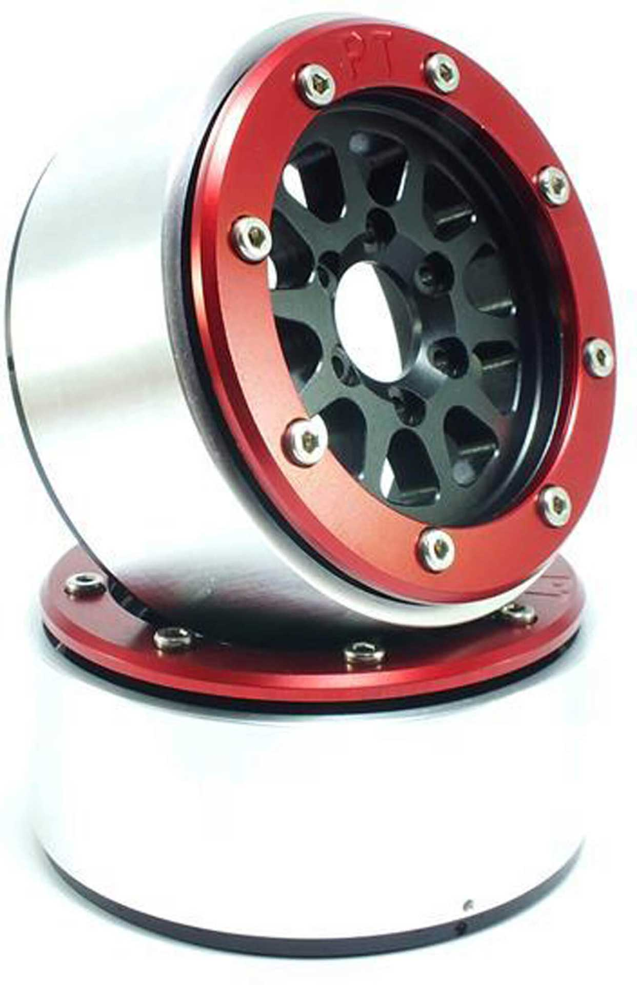 Metsafil Beadlock Wheels GEAR schwarz/rot 1.9 (2 St.) ohne Radnabe