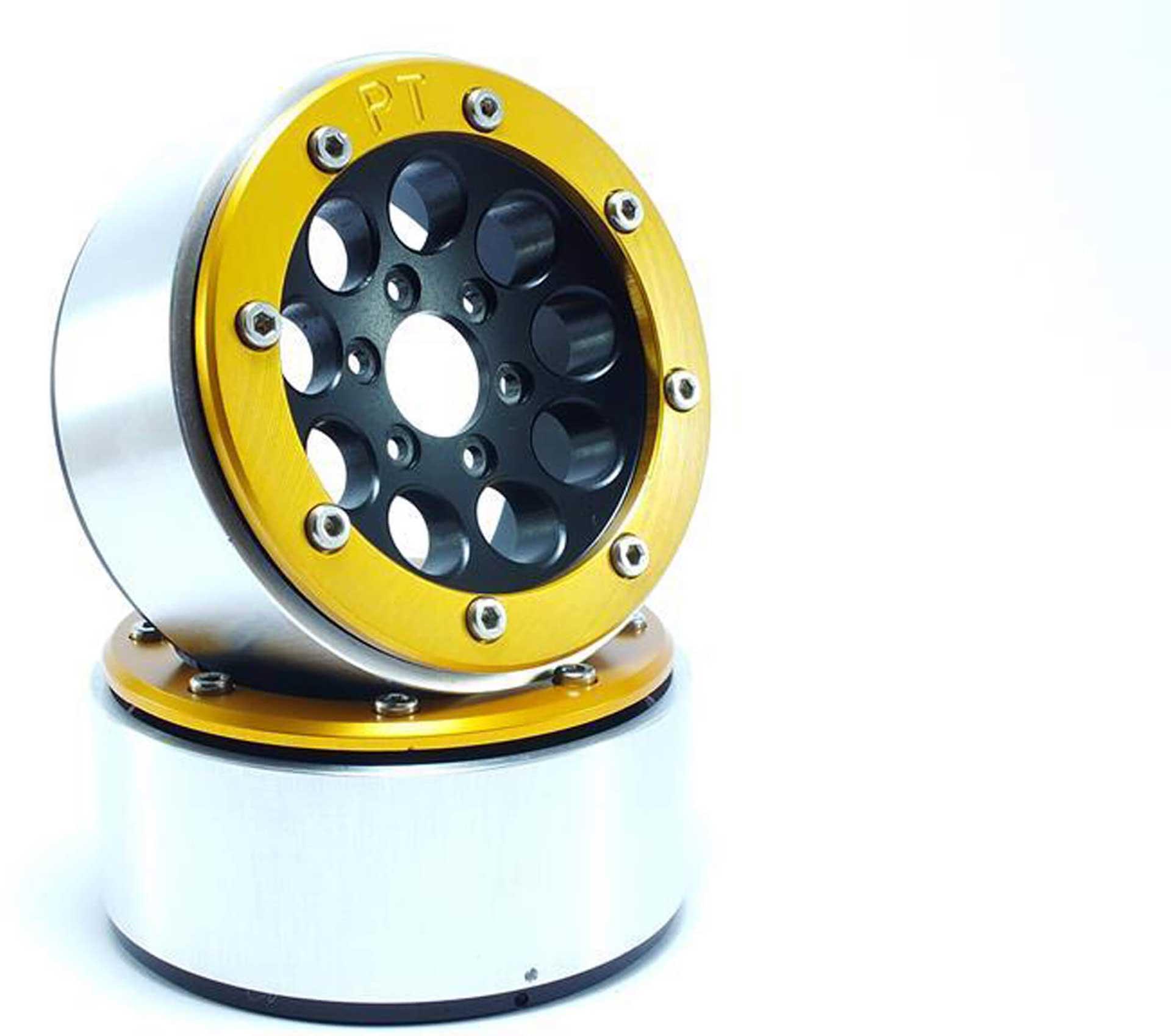 Metsafil Beadlock Wheels GUN schwarz/gold 1.9 (2 St.) ohne Radnabe