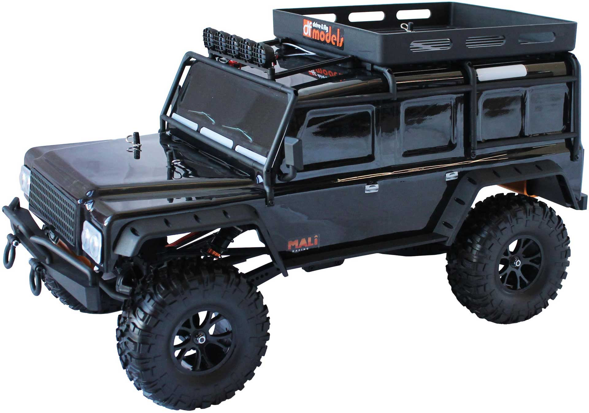 DRIVE & FLY MODELS DF-4J Crawler BLACK 2-speed LED - 2021 Edition