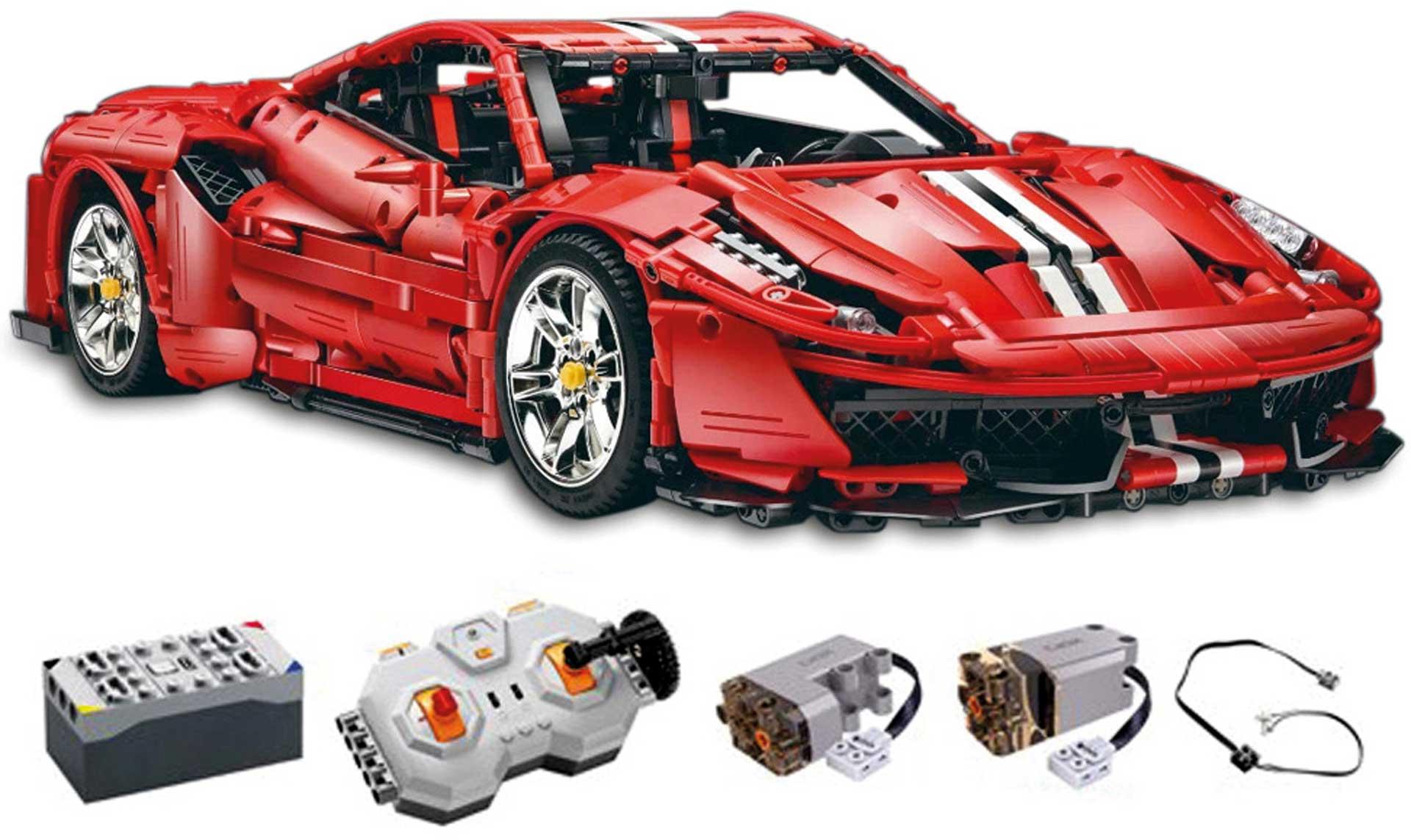 CADA Master Red Super Car 1:8 (3187 Teile) inkl. Power System