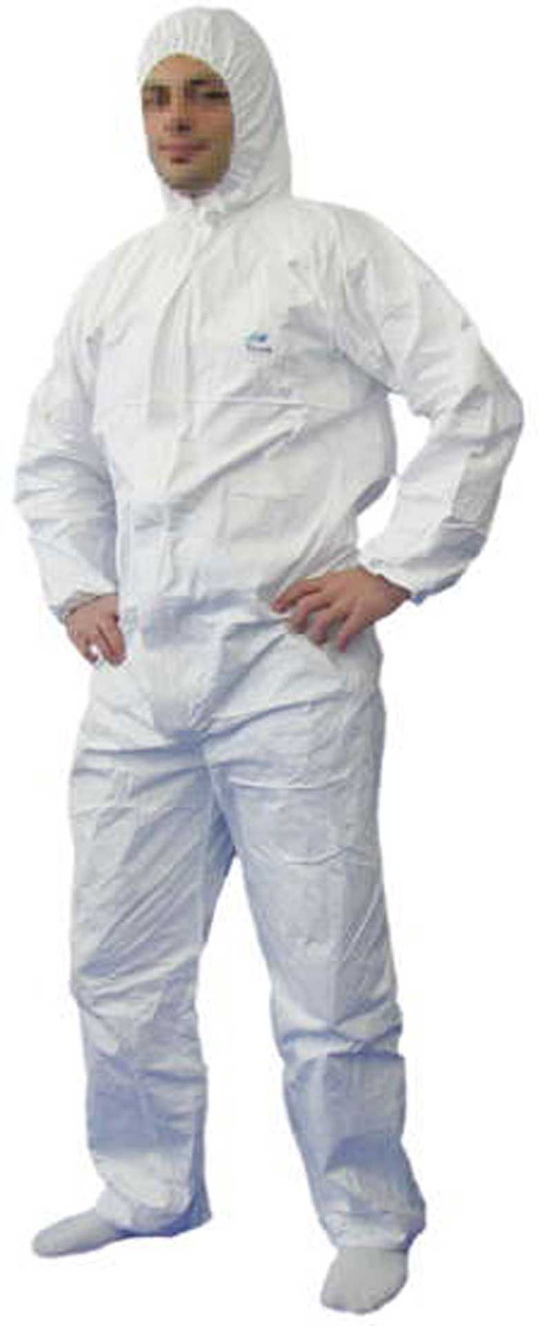 TYVEK PROTECTIVE SUIT GR. XL (58/60) CHEMICAL PROTECTIVE CLOTHING - CATEGORY III, TYPE 5/6