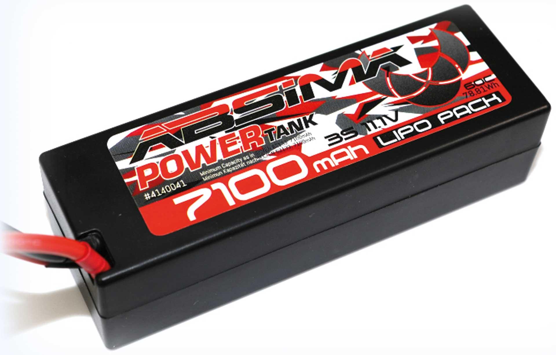 Absima Power Tank LiPo Stick Pack 11,1V 60C7100mah Hardcase (T Plug)