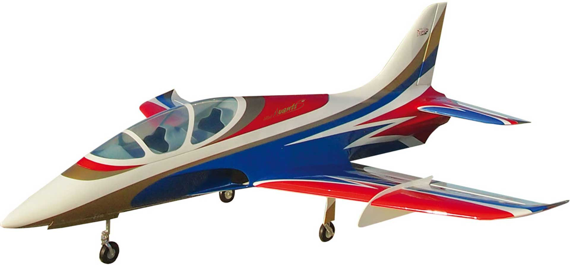 SEBART MINI AVANTI S V3 BLUE EDF JET  WITH RETRACTABLE LANDING GEAR AND 3 SERVOS FOR 90MM DUCTED FAN EDF