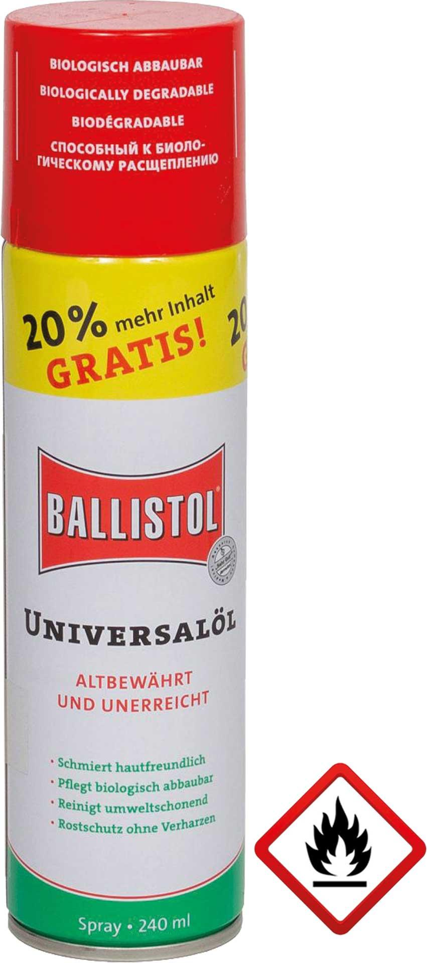 BALLISTOL UNIVERSAL ÖL SPRAY 240ML LIMITIERTE AUFLAGE!