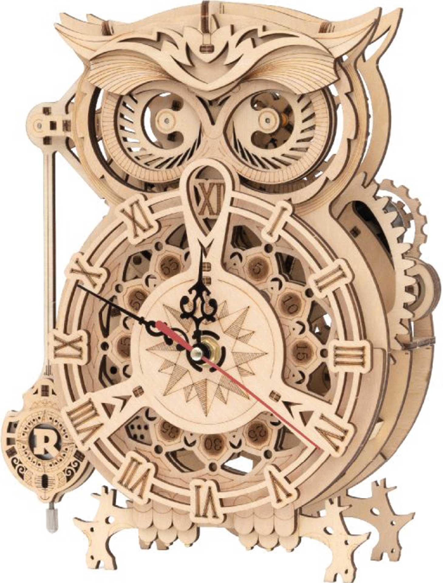 PICHLER Eulen Uhr (Lasercut Holzbausatz)