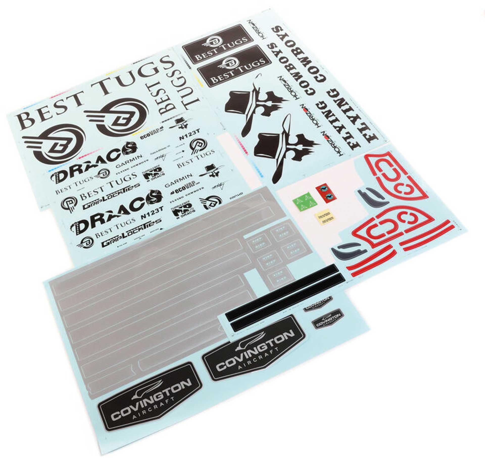 E-Flite Decal Sheet: Draco 2.0m