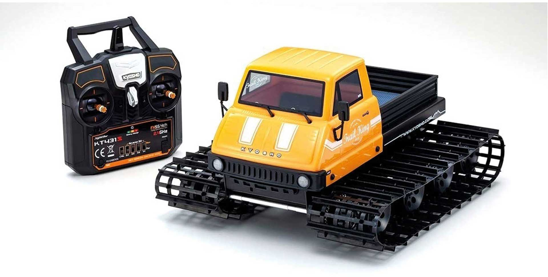 KYOSHO TRAIL KING 1:12 READYSET EP TRACKED VEHICLE (KT431S) - T1 YELLOW