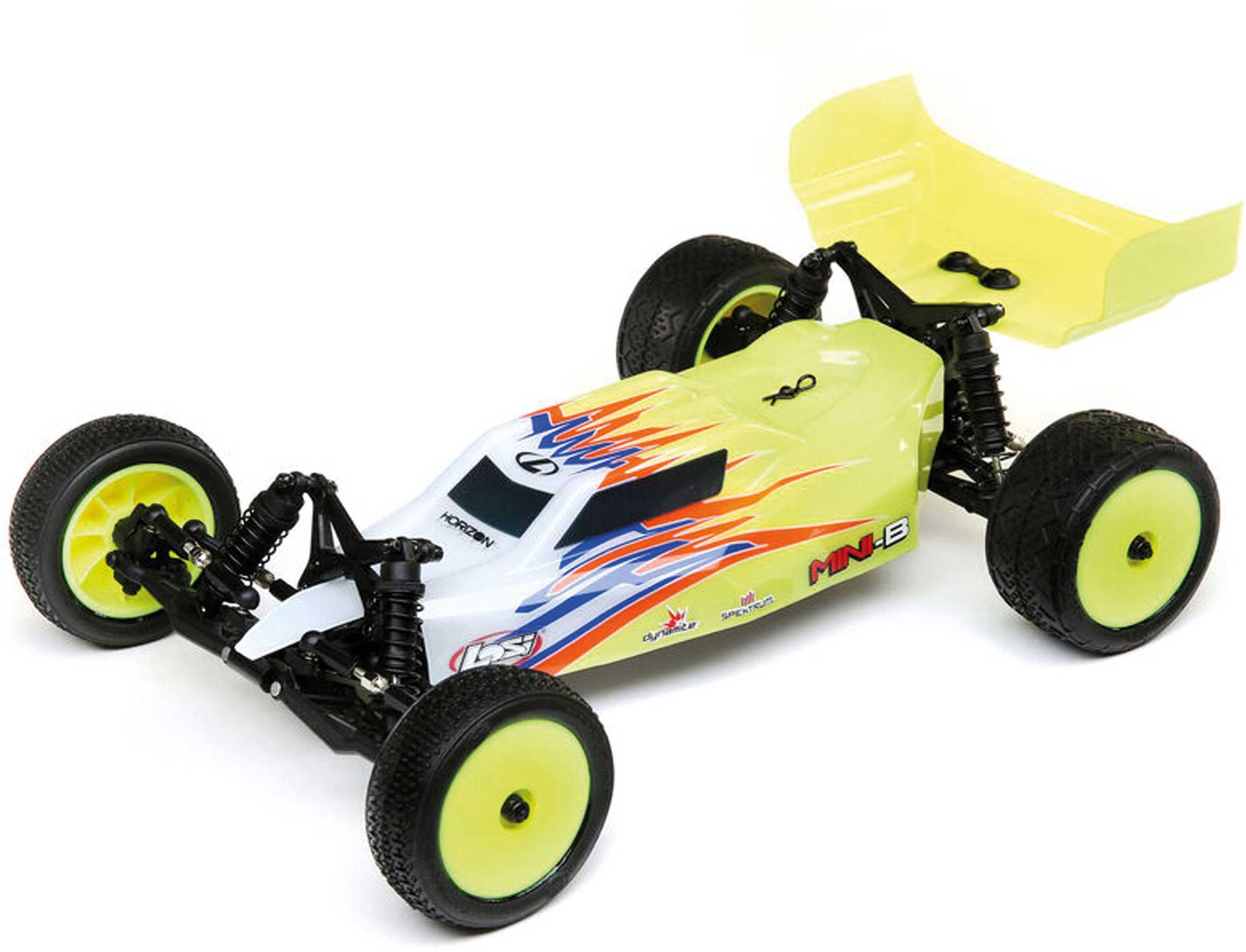 LOSI Mini-B Brushed RTR 1/16 2WD Buggy yellow/white